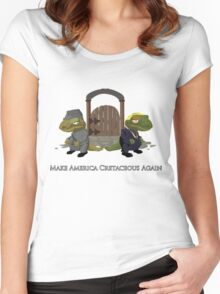 Make America Cretaceous Again Women's Fitted Scoop T-Shirt