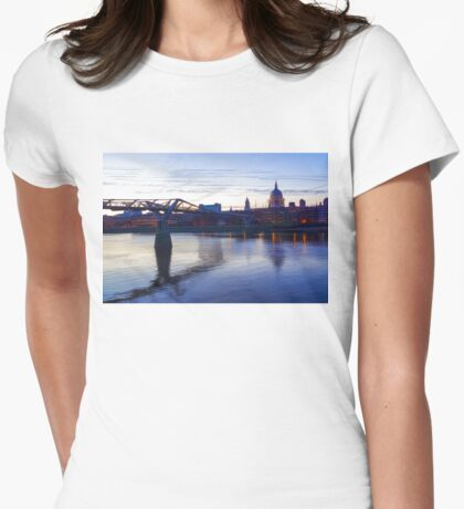 Impressions of London in Purple Womens Fitted T-Shirt