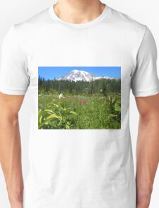 Mt. Rainier National Park Summer Wildflowers Unisex T-Shirt