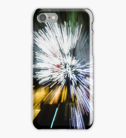 Abstract Christmas Lights - Burst of Colors iPhone Case/Skin