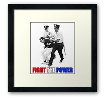 FIGHT THE POWER Bernie Sanders Arrested Framed Print