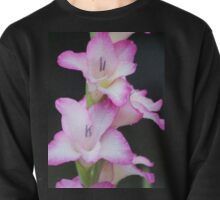 Pink Gladiola With Raindrops Pullover
