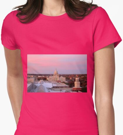 Providence at Sunset Womens Fitted T-Shirt