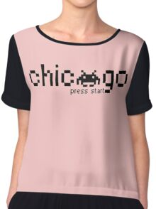 Chicago Press Start Chiffon Top