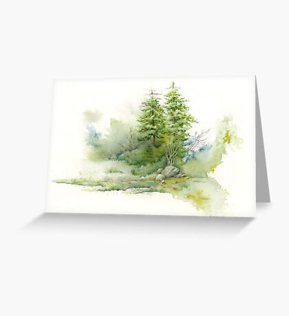 Pine Glade Study Greeting Card