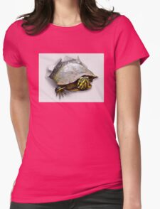 Funny turtle Womens Fitted T-Shirt