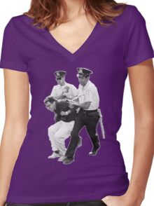 Bernie Arrested 1963 Women's Fitted V-Neck T-Shirt