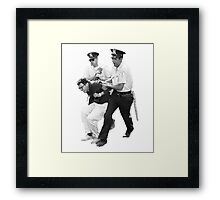 Bernie Arrested 1963 Framed Print
