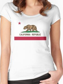 California flag Women's Fitted Scoop T-Shirt