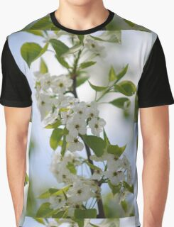 White Blossoms Graphic T-Shirt