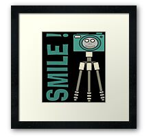 Smile camera Framed Print