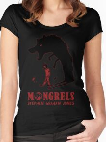 MONGRELS (shadow) Women's Fitted Scoop T-Shirt