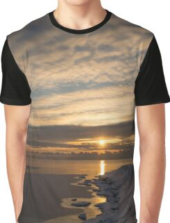 Bright, Icy Daybreak on the Lake Graphic T-Shirt