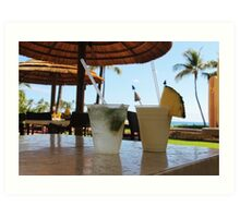 Tropical drinks  Art Print