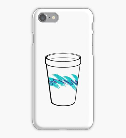 Solo Jazz Cup 90s Pattern - With Cup (white) iPhone Case/Skin
