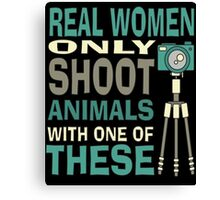Real Women Only shoot with Cameras Canvas Print