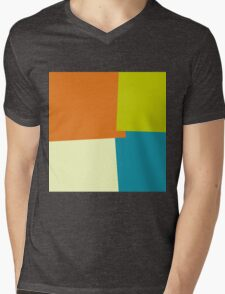 Retro Color Modern Geometric Pattern Mens V-Neck T-Shirt