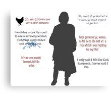 Outlander/Jamie's humor  Canvas Print