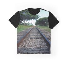 Railway track in perspective  Graphic T-Shirt