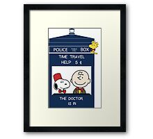 Dr Who - Charlie Brown Framed Print