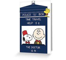 Dr Who - Charlie Brown Greeting Card