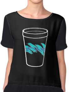 Solo Jazz Cup 90s Pattern - With Cup (black) Chiffon Top