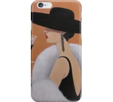 Lady in a Picture Hat iPhone Case/Skin