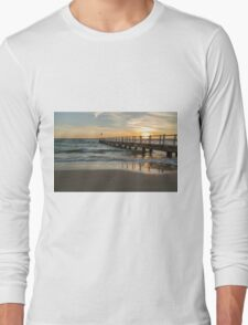 Chelsea Pier side view at sunset Long Sleeve T-Shirt