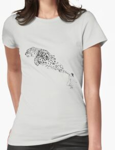 Bubbles the Snow Leopard Womens Fitted T-Shirt