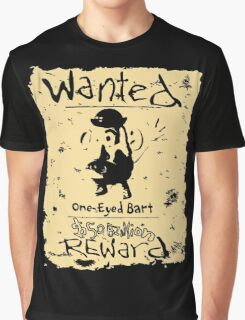 Wanted - One-Eyed Bart Graphic T-Shirt
