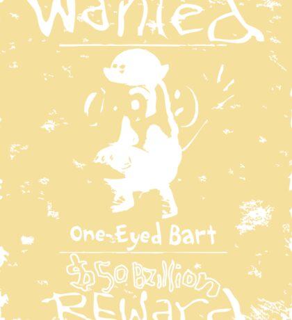 Wanted - One-Eyed Bart Sticker