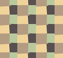 Retro Color Modern Geometric Pattern #11 by Nhan Ngo