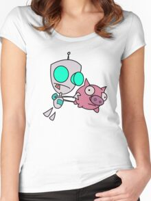 Mah Piggy Women's Fitted Scoop T-Shirt