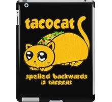 Funny - tacocat (vintage distressed look) iPad Case/Skin