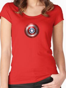 Captain : Man Women's Fitted Scoop T-Shirt