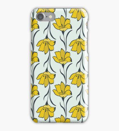 Seamless Flower  Buttercup  Pattern. Summer background garden iPhone Case/Skin