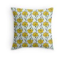 Seamless Flower  Buttercup  Pattern. Summer background garden Throw Pillow