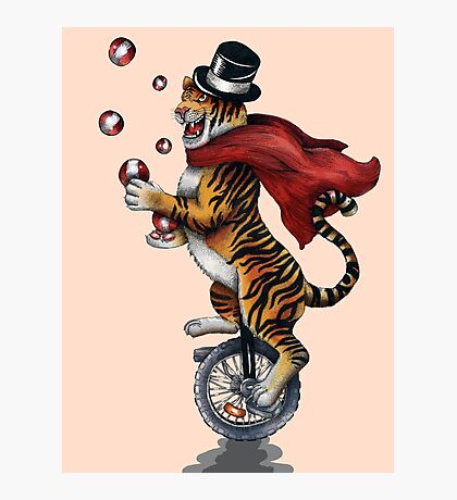 Juggling Tiger Photographic Print