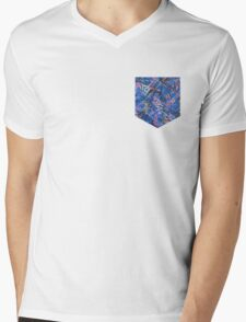 BUS PRINT - NSW AUSTRALIA PATTERN Mens V-Neck T-Shirt