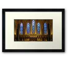 Stained Glass, St Patrick's Cathedral, Dublin Framed Print