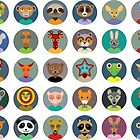 Animal faces design by EkaterinaP
