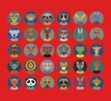 Animal faces design One Piece - Short Sleeve