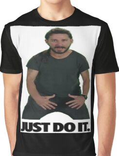 Shia LaBeouf Just Do It Graphic T-Shirt