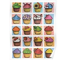 Cupcakes Montage Poster