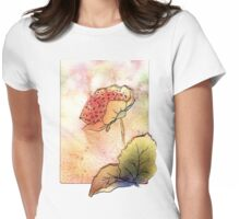 Watercolour Flowers Collage 3 Womens Fitted T-Shirt