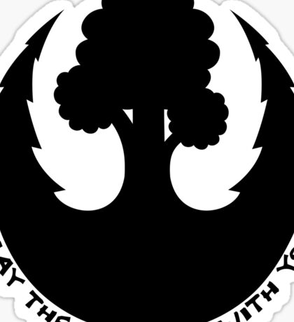 May the Forest be with you Emblem Sticker