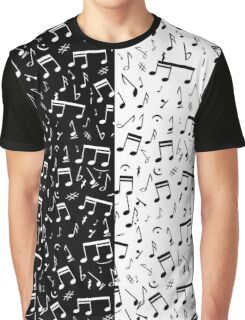 Contemporary Black and white music design Graphic T-Shirt