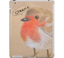 English Robin - color pencil iPad Case/Skin