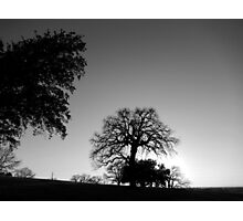 LANDSCAPE IN SILHOUETTE Photographic Print