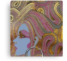 Seventies Glamour Fashion Girl Canvas Print